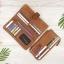 กระเป๋าสตางค์หนังแท้ทรงยาว สีน้ำตาลทราย เก็บของได้เยอะมาก เเยกชิ้นส่วนได้ ใส่มืือถือได้ thumbnail 9