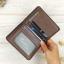 กระเป๋าสตางค์ผู้ชายทรงตั้งหนังแท้ Leather DIDE Chocolate สีน้ำตาลเข้ม สีช็อคโกแลต thumbnail 3