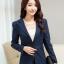 เสื้อสูทสีกรมท่าผู้หญิงใส่ทำงานแบบเรียบหรู มี 4 ไซส S/M/L/XL รหัส 1805