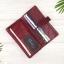 กระเป๋าสตางค์หนังแท้ทรงยาว สีแดงเลือดนก เก็บของได้เยอะมาก เเยกชิ้นส่วนได้ ใส่มืือถือได้ thumbnail 12