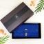 กระเป๋าสตางค์ผู้หญิง ทรงยาว รุ่น Table สีน้ำเงินเข้ม ใส่มือถือไอโฟน 6s พลัสได้ ส่งพร้อมกล่อง thumbnail 7