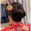 รหัส ปิ่นปักผมจีน : TR059 ขาย ปิ่นปักผมจีน พร้อมส่ง สีทอง เครื่องประดับผมจีน แบบโบราณ เหมาะมากสำหรับใส่ในพิธียกน้ำชา และงานแต่งงานธรรมเนียมจีน พิธีเสียบปิ่น คุณแม่เจ้าสาวจะติดปิ่นทองและทับทิมให้เจ้าสาว แทนคำอวยพร thumbnail 1