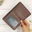 กระเป๋าสตางค์ผู้ชายทรงตั้งหนังแท้ Leather DIDE Chocolate สีน้ำตาลเข้ม สีช็อคโกแลต thumbnail 8