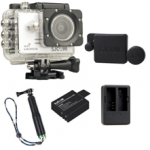 Sj5000X (White)+(Battery+Dual charger+Protective Lans+TMC Green)