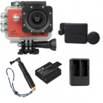 X1000 Red +Extra Battery+Dual Charger+Protective Lens+TMC Selfie (Gold)