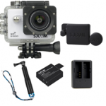X1000 White +Extra Battery+Dual Charger+Protective Lens+TMC Selfie (Blue)