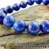 ▽สร้อยหิน ลาพิส ลาซูลี่ (Lapis Lazuli) 9.5mm.