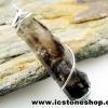 ▽จี้สโมกี้ควอตซ์สีเข้ม black smokey quartz (3.7g)