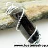 ▽จี้สโมกี้ควอตซ์สีเข้ม black smokey quartz (2.4g)