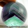 ▽ฟลูออไรต์ (Fluorite) ทรงบอล หินทรงกลม 4.5 cm