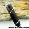 ▽จี้สโมกี้ควอตซ์สีเข้ม black smokey quartz (4.6g)