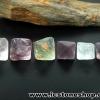 หินฟลูออไรต์ (Fluorite) ธรรมชาติทรงพีระมิคคู่ 6 ชิ้น(36g)