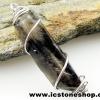 จี้สโมกี้ควอตซ์สีเข้ม black smokey quartz (2.9g)