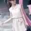 ชุดเดรส สีชมพู เสื้อคอปกติดกระดุมสวยงาม thumbnail 2