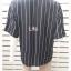 jp5105-เสื้อเชิ้ต สีดำลายทาง อก 40 นิ้ว thumbnail 3