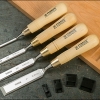 NAREX 8133xx Cranked-neck paring chisel, WOOD LINE PLUS - สิ่วคอเอียง 4 ขนาด