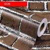 สติ๊กเกอร์ วอล์ลายอิฐ น้ำตาล ขนาด0.45x10m.