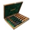 NAREX 853300 Set of forged firmer gouges PREMIUM in wooden box -ชุดสิ่วเล็บมือรุ่นพรีเมียม