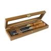 NAREX 8516xx - Set of skew chisels in wooden box- ชุดสิ่วปากฉลาม 2 ตัวชุดในกล่องไม้