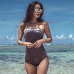 [พร้อมส่ง]BKN-2102 ชุดว่ายน้ำวันพีช โทนสีเมทัลลิค