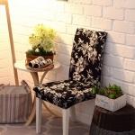 ผ้าคลุมเก้าอี้ ลายดอกสีเข้ม CH-009