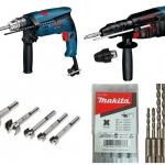 สว่านไฟฟ้า และสว่านแท่น (Corded Drill and Drill Press)