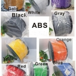 เส้นพลาสติค ABS มาตรฐาน ขนาด 1.75 มม. ม้วนละ 1 กก. (1.75mm ABS filament- 1kg.)