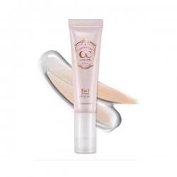 Etude House - Correct & Care CC Cream 8 in 1 (Glow) เนื้อโกลว์ เงาวิ๊ง ทาแล้วจะเปลี่ยนสีเป็นสีเนื้อ ตัวเดียวครบทั้งบำรุงและแต่งหน้า
