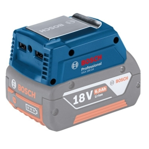 BOSCH GAA 18V-24 USB Charger แหล่งจ่ายไฟ USB ใช้งานร่วมกับแบตเตอรี่เครื่องมือไร้สายของบ๊อช