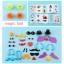 ของเล่นตัวต่อ bunchems 400+พร้อมกล่องพลาสติกใส สำหรับจัดเก็บ thumbnail 4