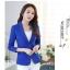 สูทผู้หญิง ผ้าฮานาโกะ มีน้ำหนัก กระเป๋าหน้า พร้อมส่ง สีน้ำเงิน 2XL *แถมเข็มกลัด thumbnail 2