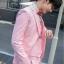 สูทชาย,ชุดสูท สีชมพู +เสื้อกั๊ก พร้อมส่ง M,L thumbnail 4