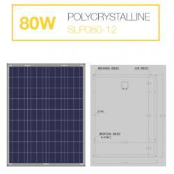 แผงโซล่าเซลล์ 80W Poly Solarshop