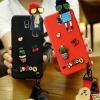 (723-001)เคสโทรศัพท์มือถือซัมซุง Samsung S4 เคสนิ่มตุ๊กตาหัวเกาะ Hang Rope