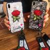 (746-001)เคสโทรศัพท์มือถือวีโว่ Vivo V9 เคสนิ่มลายลูกไม้ดอกกุหลาบ
