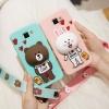(388-128)เคสโทรศัพท์มือถือ Samsung Note2 เคสนิ่ม Line Cony Brown