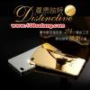 (025-153)เคสมือถือ Case Huawei P8 เคสกรอบโลหะพื้นหลังอะคริลิคเคลือบเงาทองคำ 24K
