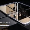 (394-021)เคสมือถือซัมซุง Case Samsung S6 Edge Plus เคสนิ่มใสพื้นหลังอะคริลิคแววสะท้อนคล้ายกระจก