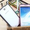 (423-004)เคสโทรศัพท์มือถือ Samsung Note2 เคสบัมเปอร์ขอบสีหวานๆ