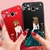 (587-009)เคสมือถือซัมซุง Case Samsung A5 เคสนิ่มแฟชั่นลายผู้หญิงขอบเพชร