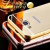 (417-002)เคสมือถือซัมซุง Case Samsung Galaxy J3 เคสกรอบโลหะพื้นหลังอะคริลิคเคลือบเงาทอง 24K