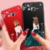 (587-006)เคสมือถือซัมซุง Case Samsung J7 เคสนิ่มแฟชั่นลายผู้หญิงขอบเพชร