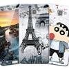 (697-002)เคสโทรศัพท์มือถือซัมซุง Case Samsung A9 Pro เคสนิ่มพร้อมฟิล์มกระจกด้านหน้าเข้าชุดการ์ตูน