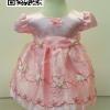 ชุดเด็กหญิงเบบี้ใส่ไปงานแต่งสีชมพูสำหรับเด็กเล็ก