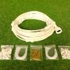ชุดพ่นหมอกหัวกระดุมเบอร์ 0.4 จำนวน 23 หัวพ่น สายพ่นหมอก 12 เมตร (สายสีขาว)