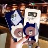 (762-007)เคสโทรศัพท์มือถือซัมซุง Case Samsung S7 Edge เคสนิ่มหมีบราวน์