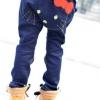 กางเกงยีนส์ขายาว สีเข้ม ก้นคิตตี้ ติดโบว์กระเป๋าหน้า ผ้าดี ยืดนิดๆ size 5, 7, 9, 11, 13
