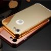 (025-969)เคสมือถือไอโฟน Case iPhone 7 Plus/8 Plus เคสกรอบบัมเปอร์โลหะฝาหลังอะคริลิคแววกึ่งกระจก
