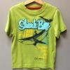 เสื้อยืดสีเขียว ลายฉลาม Shark Bay ผ้านิ่ม ใส่สบายค่ะ size M (4-5)
