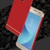 (025-1168)เคสมือถือซัมซุง Case Samsung J7 Pro เคสพลาสติกสีสดใสขอบทองแววสไตล์แฟชั่น